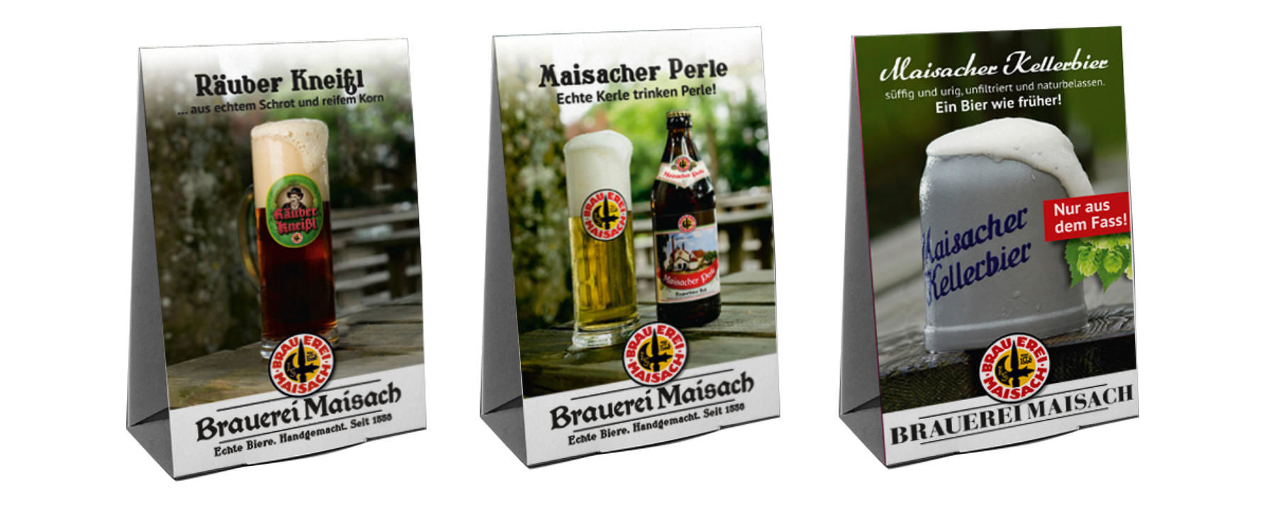 Brauerei Maisach, Corporate Design, Werbemittel