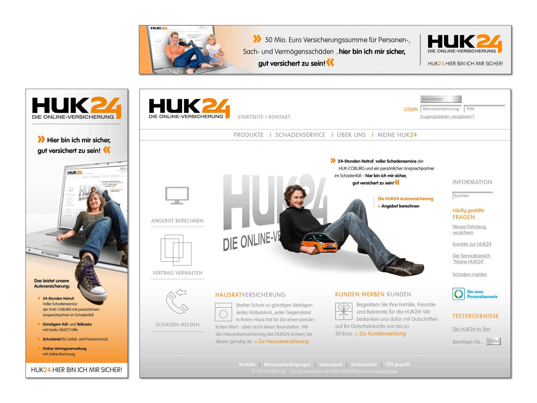 HUK24, Website, Relaunch, Gestaltung
